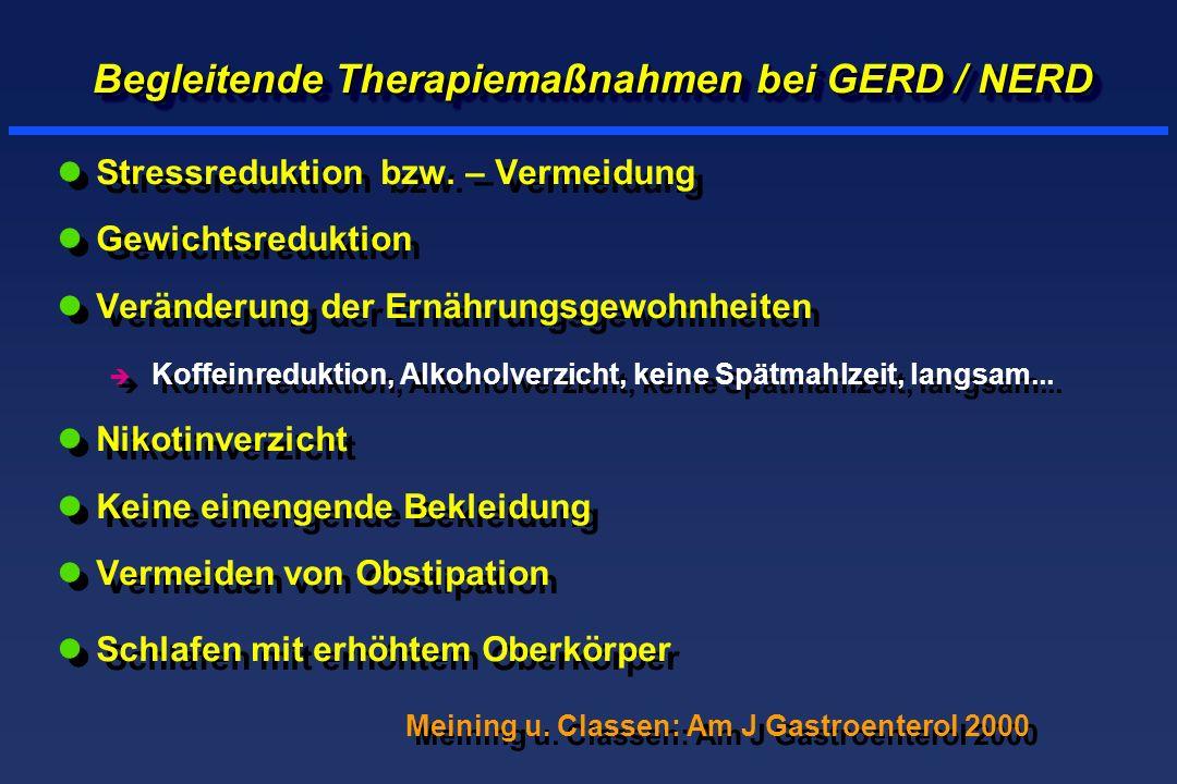 Begleitende Therapiemaßnahmen bei GERD / NERD lStressreduktion bzw.