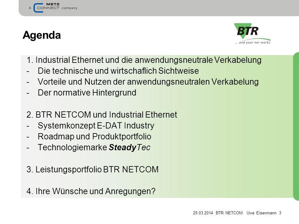 29.03.2014 BTR NETCOM Uwe Eisenmann 3 Agenda 1.