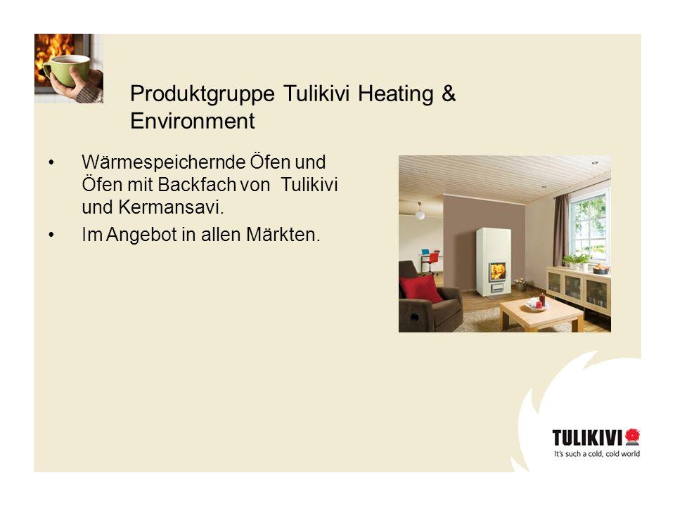 Produktgruppe Tulikivi Heating & Environment Wärmespeichernde Öfen und Öfen mit Backfach von Tulikivi und Kermansavi. Im Angebot in allen Märkten.