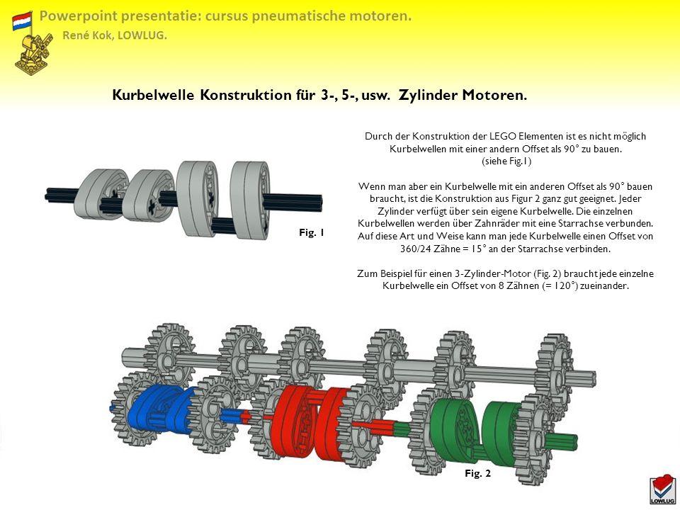Kurbelwelle Konstruktion für 3-, 5-, usw.Zylinder Motoren.