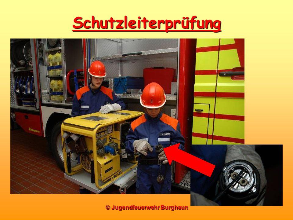 © Jugendfeuerwehr Burghaun Schutzleiterprüfung