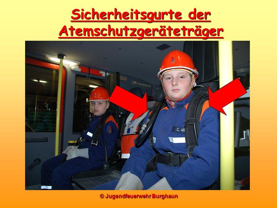 © Jugendfeuerwehr Burghaun Sicherheitsgurte der Atemschutzgeräteträger
