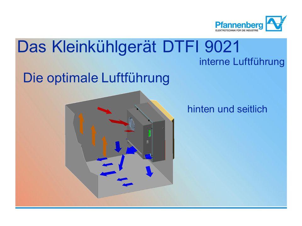 interne Luftführung hinten und seitlich Die optimale Luftführung Das Kleinkühlgerät DTFI 9021