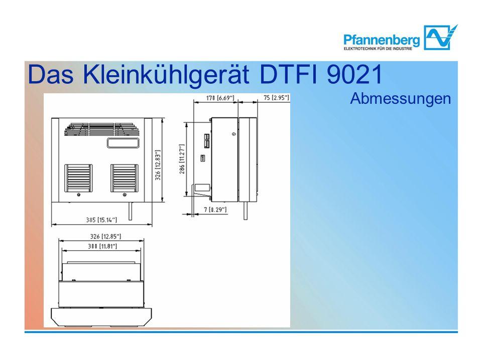 Abmessungen Das Kleinkühlgerät DTFI 9021