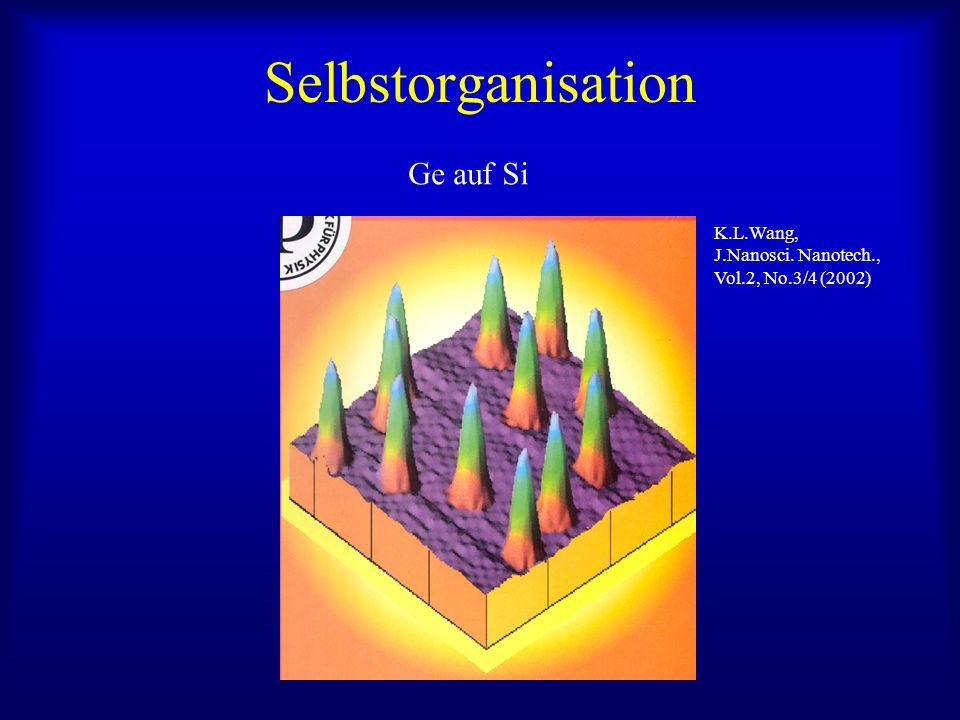 Selbstorganisation Ge auf Si K.L.Wang, J.Nanosci. Nanotech., Vol.2, No.3/4 (2002)