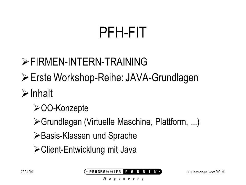 27.04.2001PFH-Technologie-Forum-2001-01 NEUE GESICHTER Barbara Moser Mag.