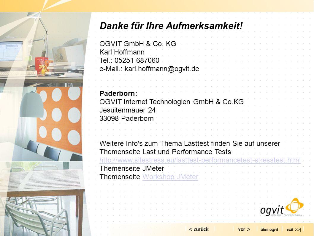 Danke für Ihre Aufmerksamkeit! OGVIT GmbH & Co. KG Karl Hoffmann Tel.: 05251 687060 e-Mail.: karl.hoffmann@ogvit.de Paderborn: OGVIT Internet Technolo
