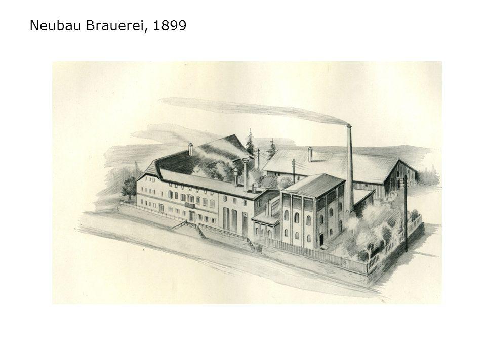 Neubau Brauerei, 1899
