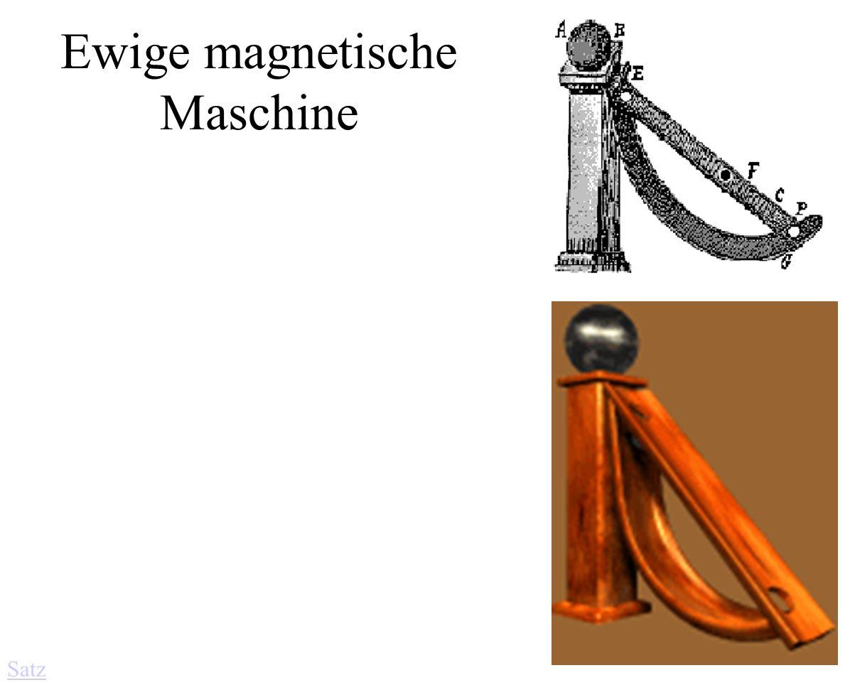 Ewige magnetische Maschine Satz