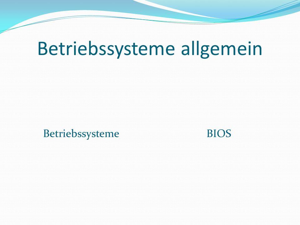 BIOS Basic Input/Output System Lat: Leben