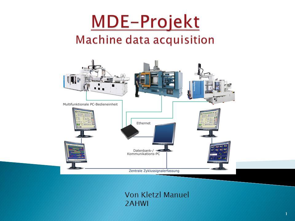 Maschine prüfen auf: die Richtigkeit(Plausibilität) den Nutzungsgrad Die Verfügbarkeit MDE_Projekt_Kletzl2