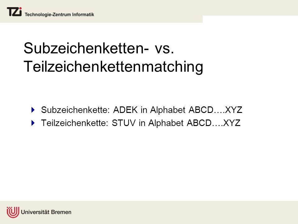 Subzeichenketten- vs.