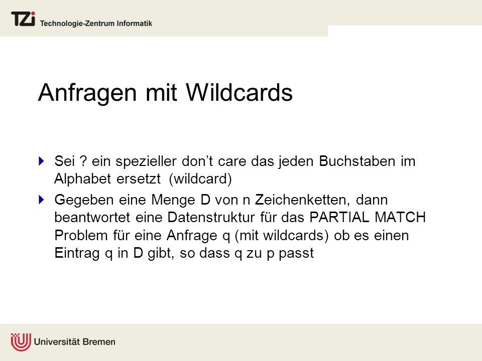 Anfragen mit Wildcards Sei .