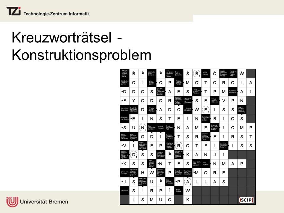 Kreuzworträtsel - Konstruktionsproblem