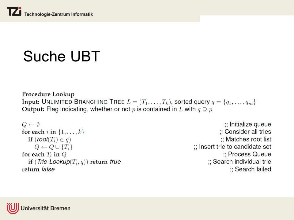 Suche UBT