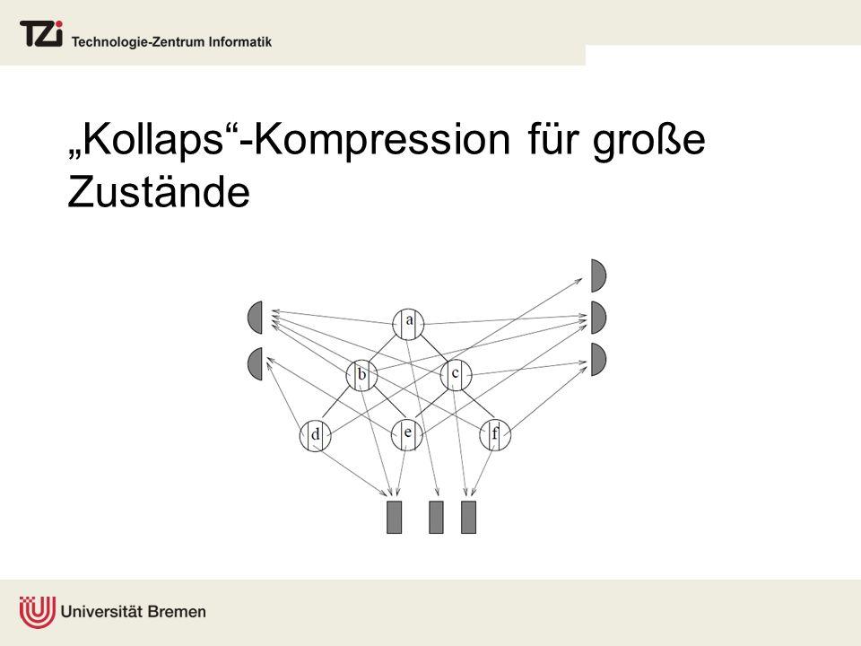 Kollaps-Kompression für große Zustände
