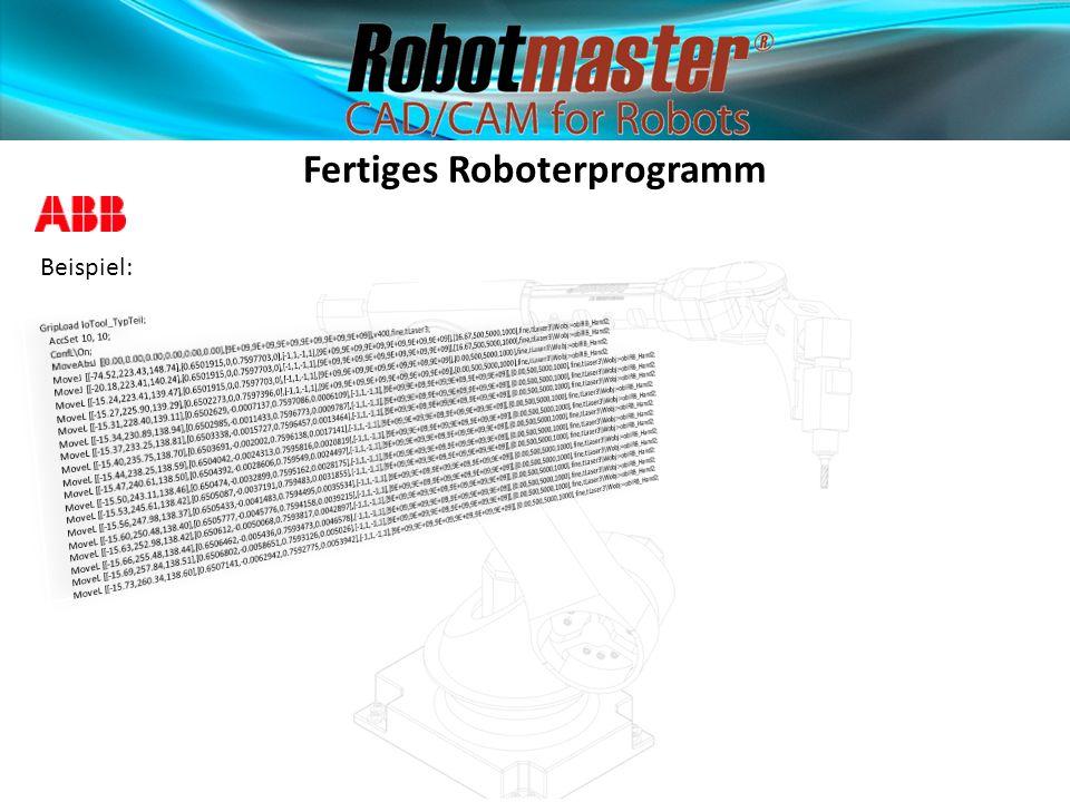 Fertiges Roboterprogramm Beispiel: