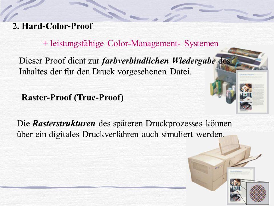 Q 2. Hard-Color-Proof Dieser Proof dient zur farbverbindlichen Wiedergabe des Inhaltes der für den Druck vorgesehenen Datei. + leistungsfähige Color-M
