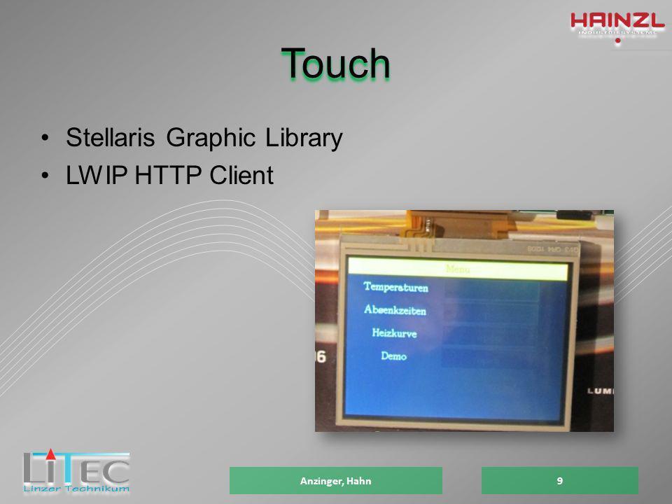 Touch Stellaris Graphic Library LWIP HTTP Client Anzinger, Hahn9