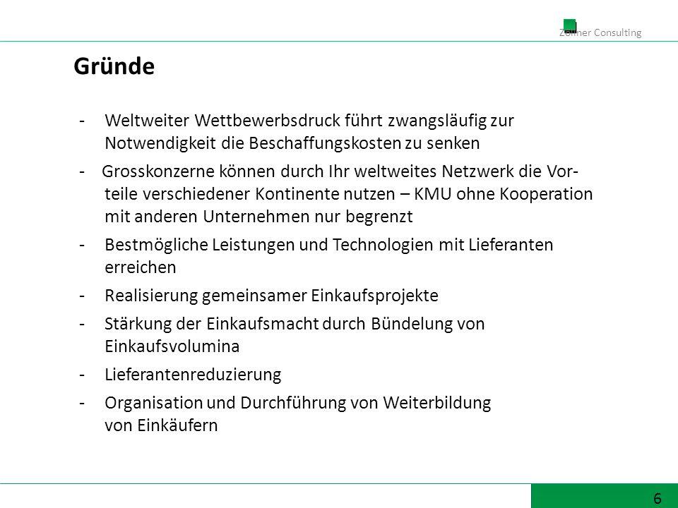 17 Zöllner Consulting Reduzierung der Prozesskosten ( z.B.
