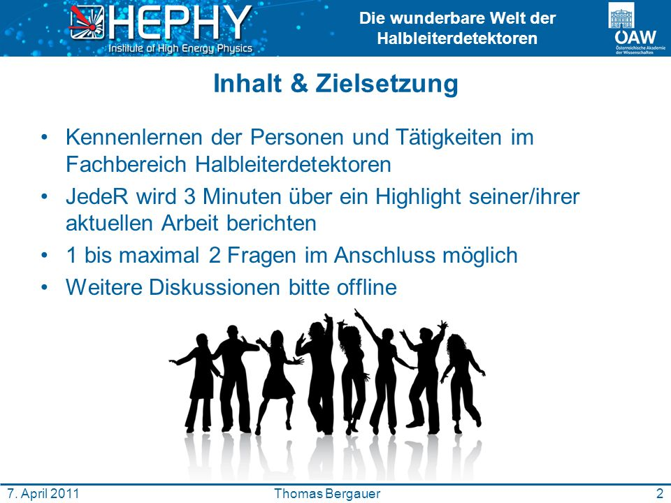 Die wunderbare Welt der Halbleiterdetektoren 2Thomas Bergauer7.