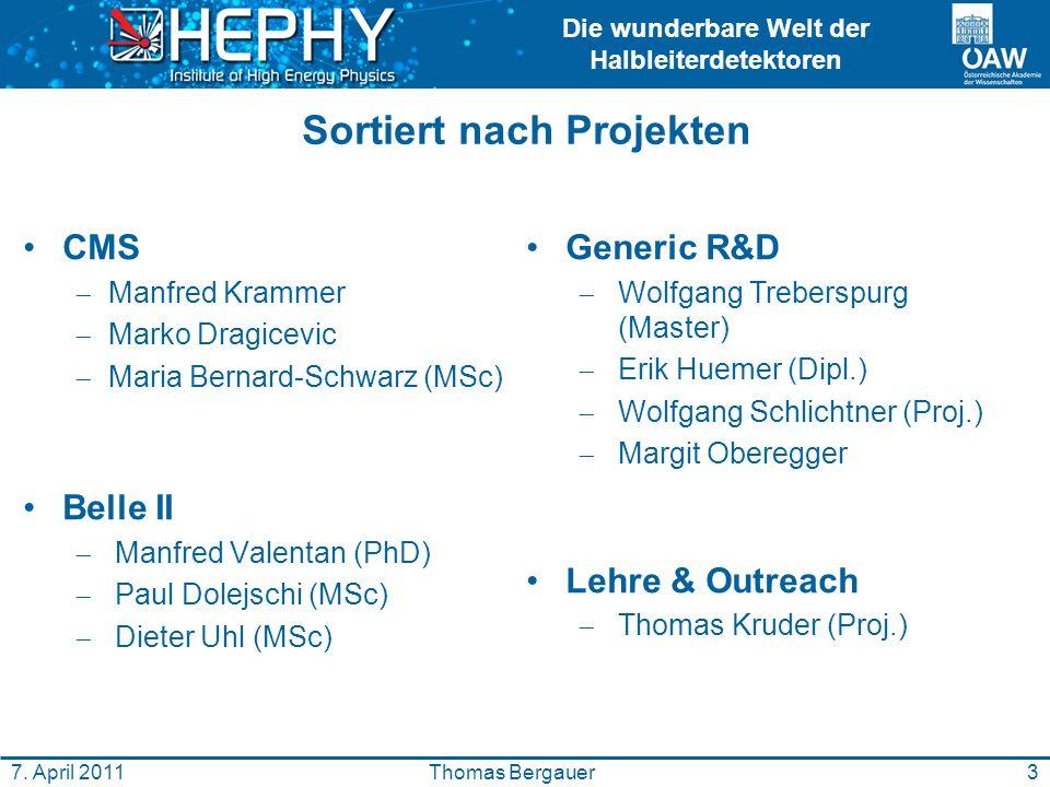 Die wunderbare Welt der Halbleiterdetektoren 3Thomas Bergauer7.