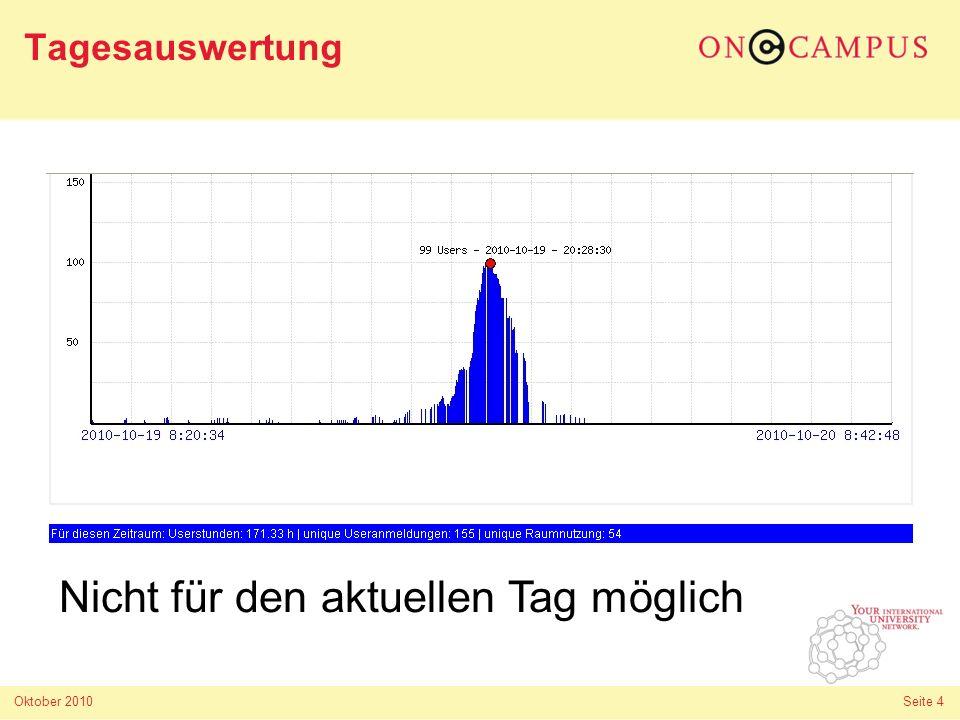Oktober 2010 Seite 5 Connect Wiki http://wiki.oncampus.de/connect#statistiktool