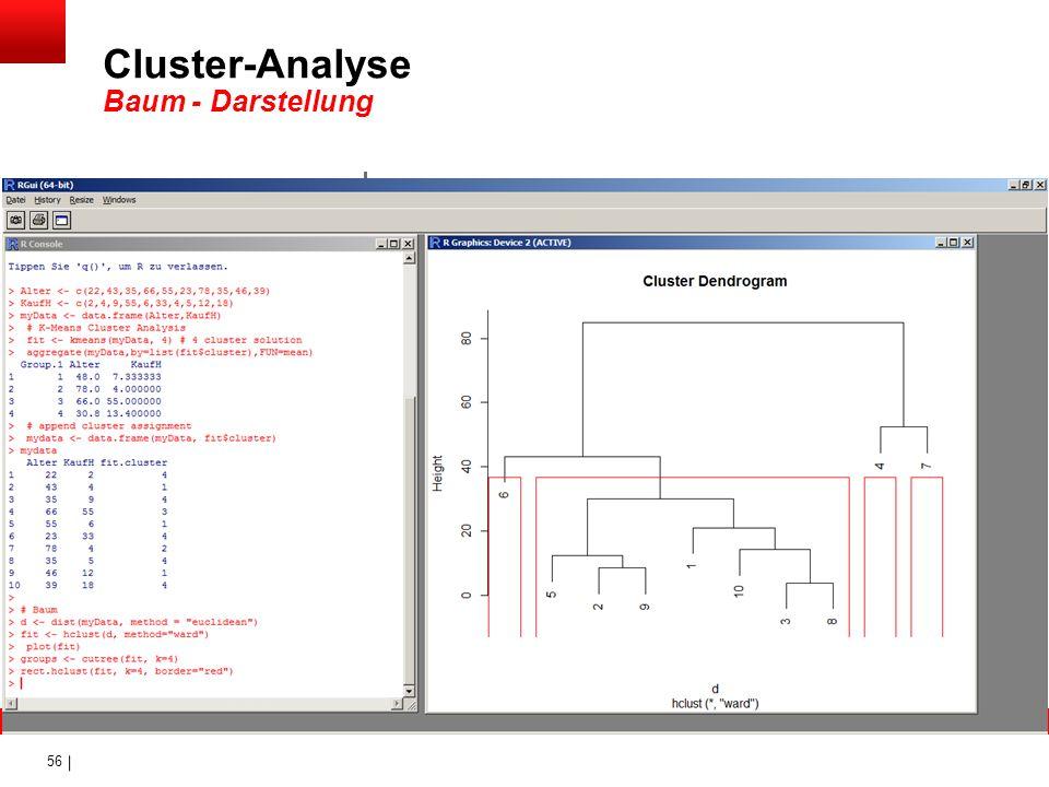 56 Cluster-Analyse Baum - Darstellung
