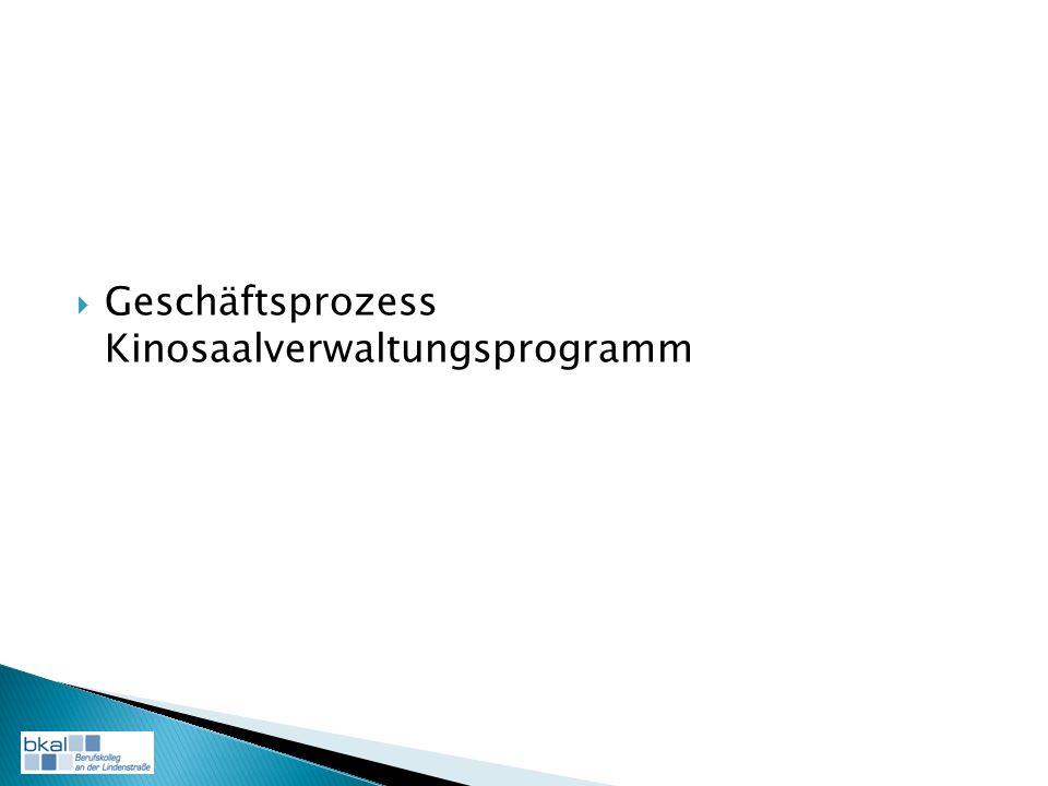 Geschäftsprozess Kinosaalverwaltungsprogramm