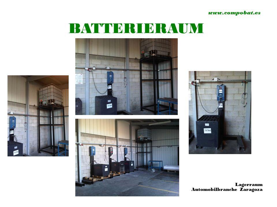 www.compobat.es BATTERIERAUM Lagerraum Automobilbranche Zaragoza