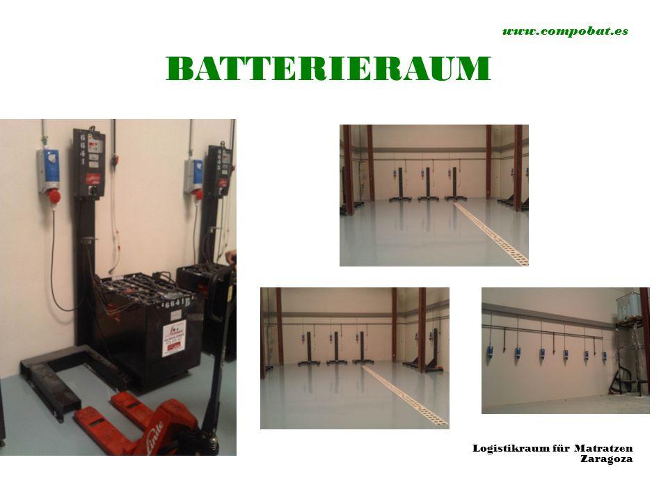 www.compobat.es BATTERIERAUM Logistikraum für Matratzen Zaragoza