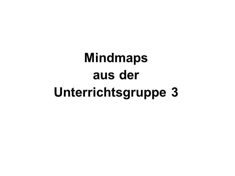 Mindmaps aus der Unterrichtsgruppe 3
