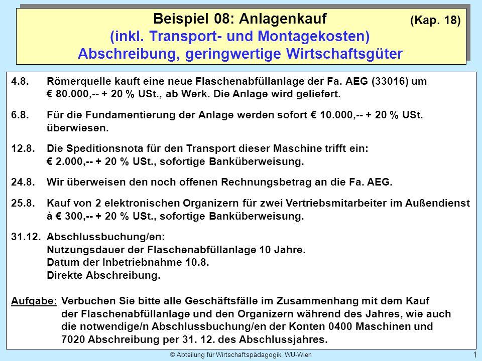 © Abteilung für Wirtschaftspädagogik, WU-Wien 2 (Kap.