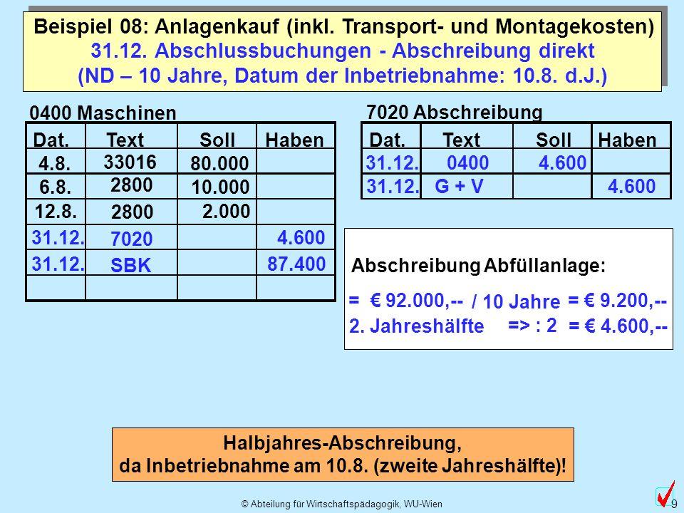 © Abteilung für Wirtschaftspädagogik, WU-Wien 10 (Kap.