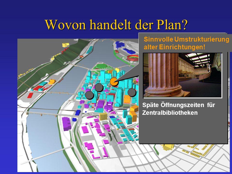 Wovon handelt der Plan. Sinnvolle Umstrukturierung alter Einrichtungen.