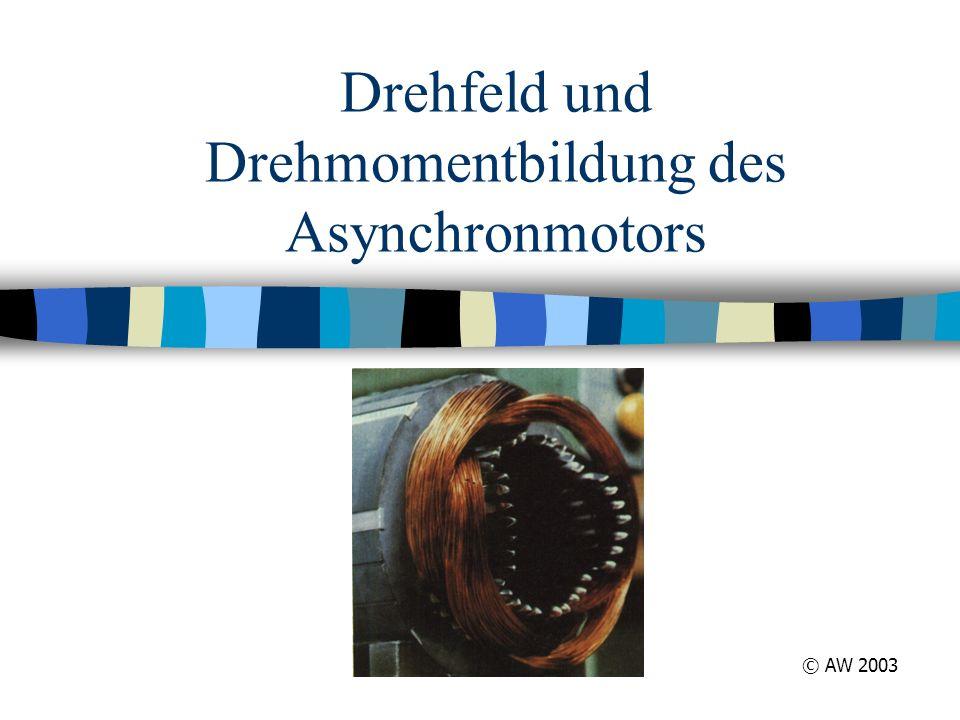 Drehfeld und Drehmomentbildung des Asynchronmotors © AW 2003