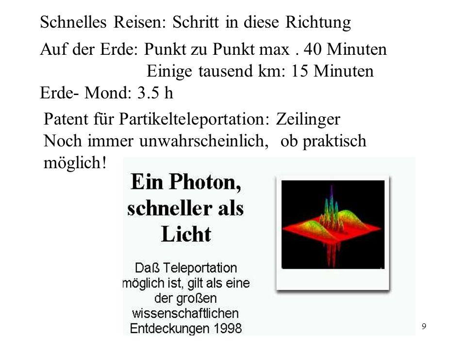 (c) H. Maurer9 Auf der Erde: Punkt zu Punkt max.