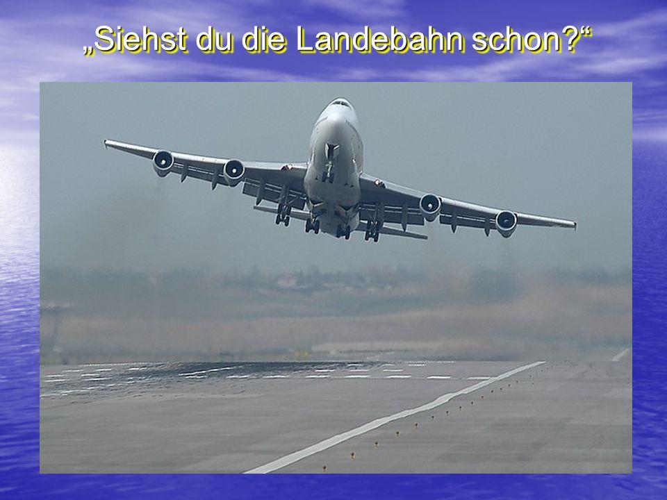 Siehst du die Landebahn schon?