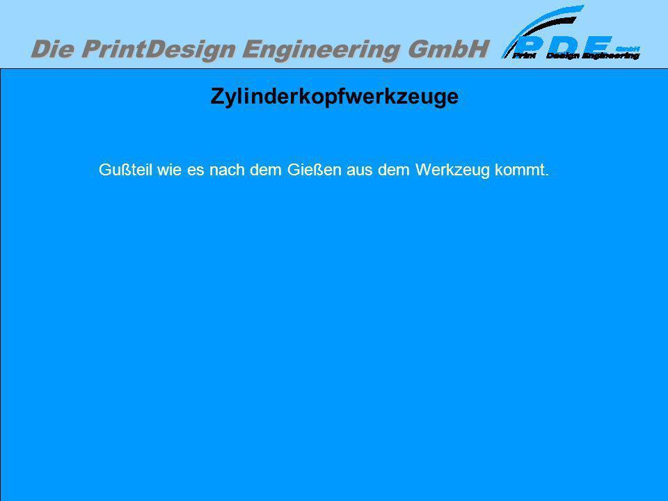 Die PrintDesign Engineering GmbH Zylinderkopfwerkzeuge Gußteil wie es nach dem Gießen aus dem Werkzeug kommt.