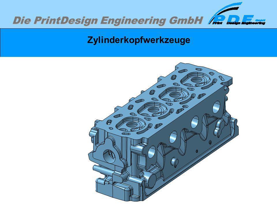 Die PrintDesign Engineering GmbH Zylinderkopfwerkzeuge Zylinderkopfgußteil ohne Sandkerne