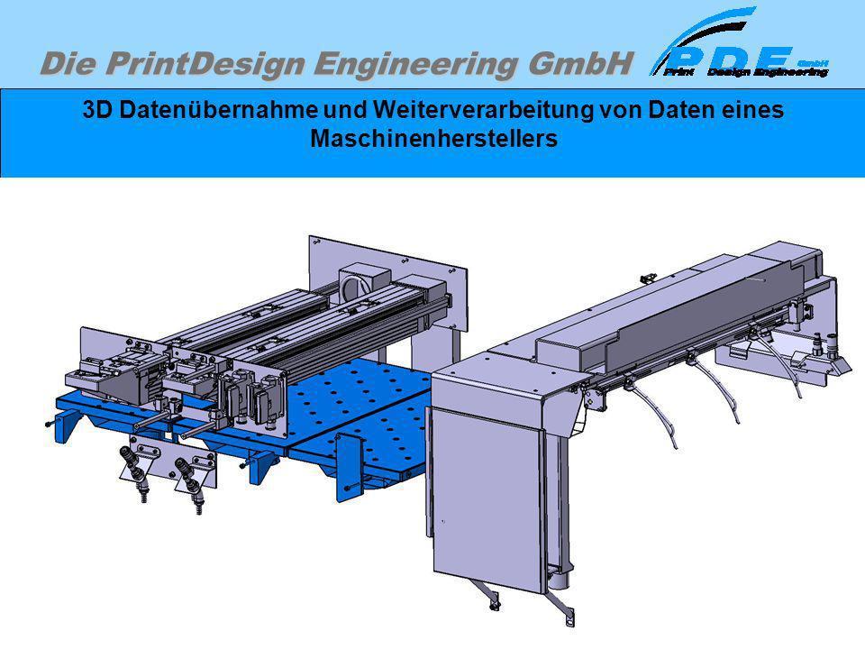 Die PrintDesign Engineering GmbH 3D Datenübernahme und Weiterverarbeitung von Daten eines Maschinenherstellers Darstellung des Projektumfanges ist jed