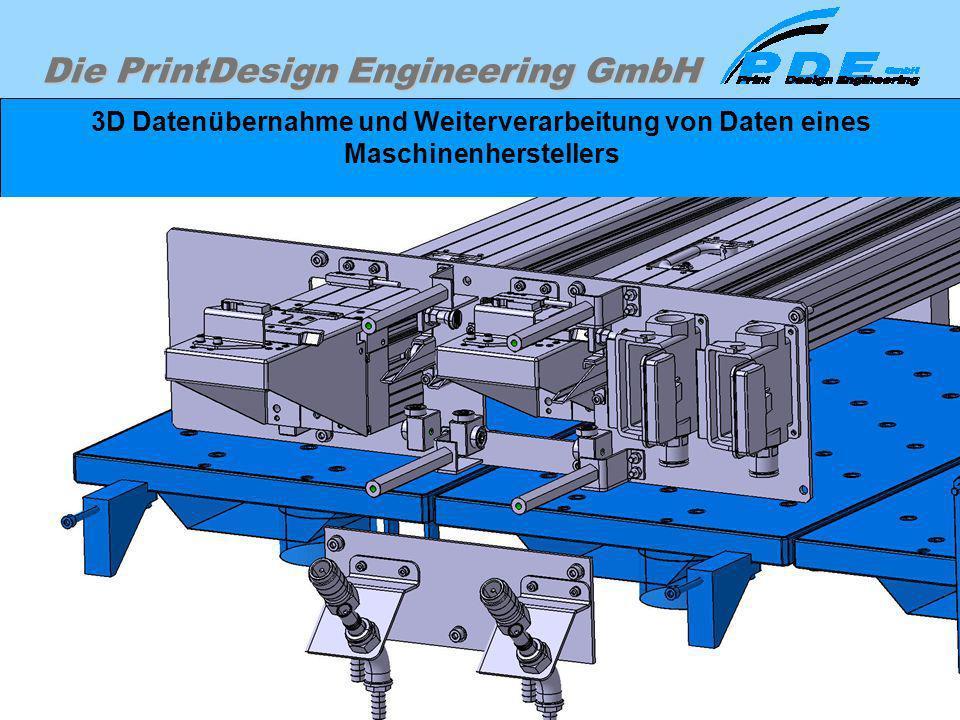 Die PrintDesign Engineering GmbH 3D Datenübernahme und Weiterverarbeitung von Daten eines Maschinenherstellers Einfärben einzelner Teile oder Baugrupp