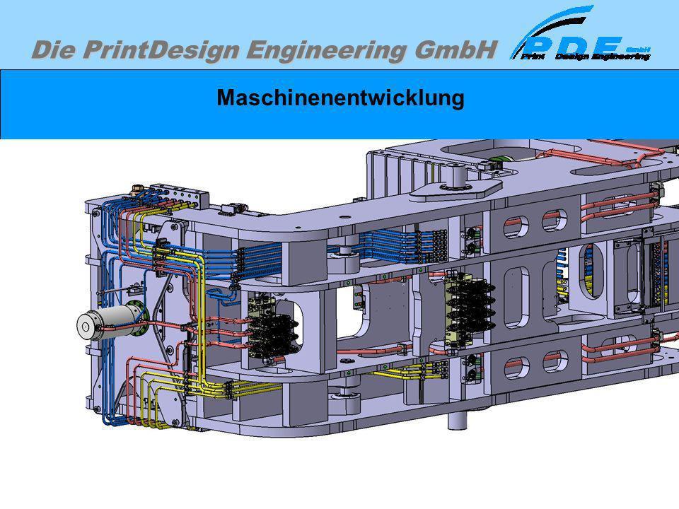 Die PrintDesign Engineering GmbH Maschinenentwicklung In diesem Fall war Aufgrund der Zeitschiene die Notwendigkeit gegeben, die Verrohrung vollständi