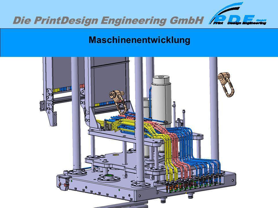 Die PrintDesign Engineering GmbH Maschinenentwicklung Beispiel eines Verrohrungsbereiches, der mit Konventioneller Methode nur mit sehr großem Zeitauf