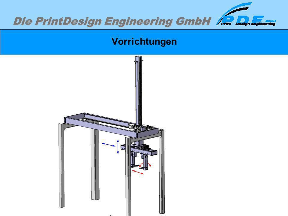 Die PrintDesign Engineering GmbH Vorrichtungen Vorrichtungen zum Spannen, Transportieren, Entnehmen und Weiterverarbeiten. Am Beispiel einer 4-Achsige