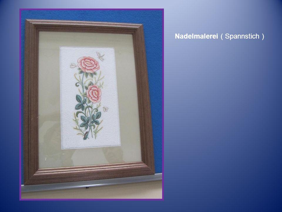 Nadelmalerei ( Spannstich )
