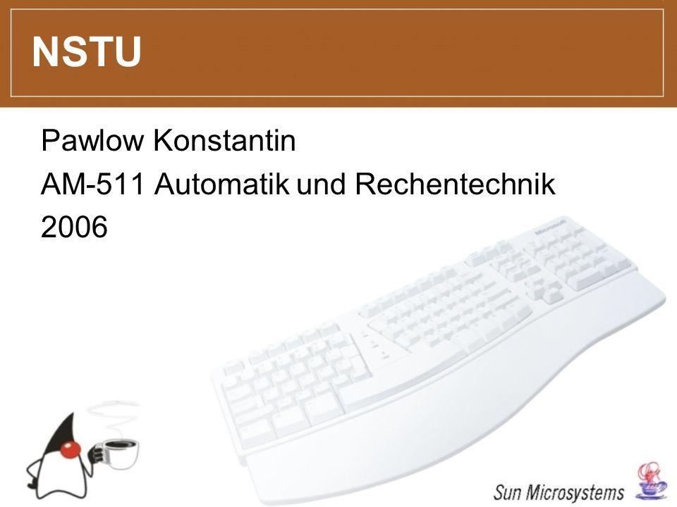 Pawlow Konstantin AM-511 Automatik und Rechentechnik 2006 NSTU