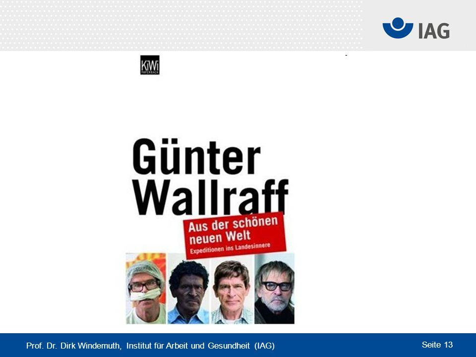 Prof. Dr. Dirk Windemuth, Institut für Arbeit und Gesundheit (IAG) Seite 13
