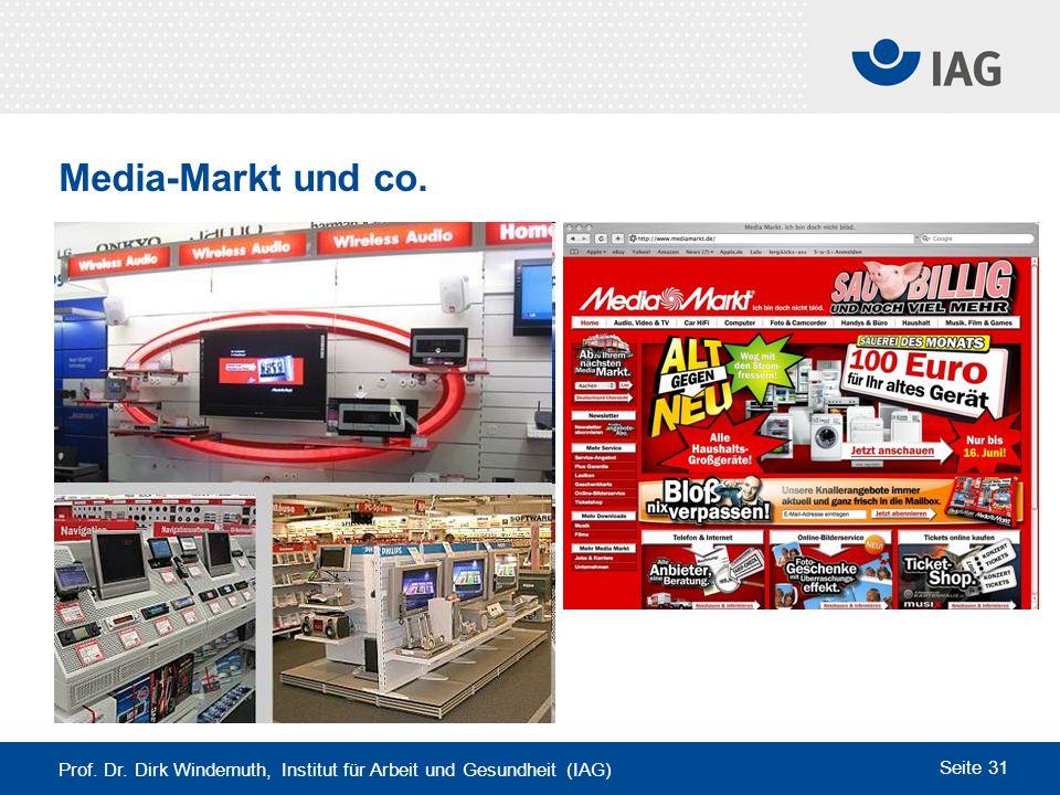 Prof. Dr. Dirk Windemuth, Institut für Arbeit und Gesundheit (IAG) Seite 31 Media-Markt und co.