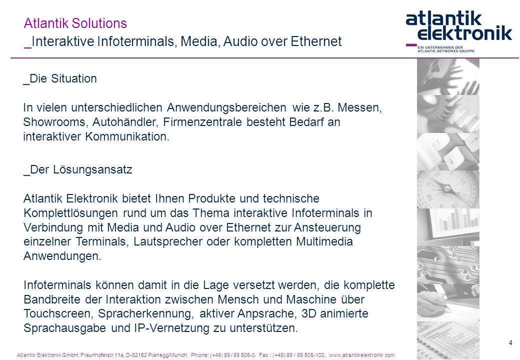Atlantik Elektronik GmbH, Fraunhoferstr.11a, D-82152 Planegg/Munich, Phone: (+49) 89 / 89 505-0, Fax.: (+49) 89 / 89 505-100, www.atlantikelektronik.c